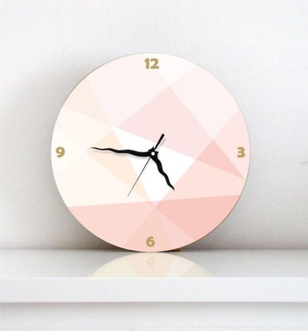 DIY Pink Clock