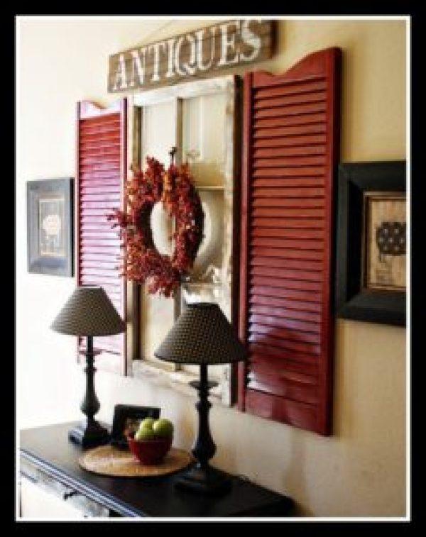 DIY Dark Red Window