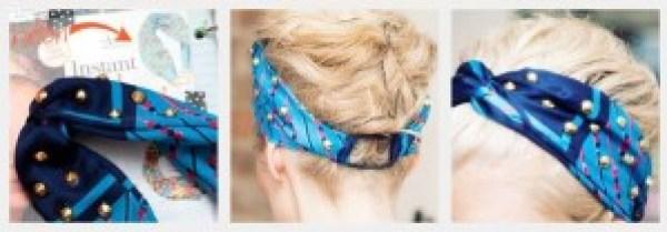 DIY Blue Headband
