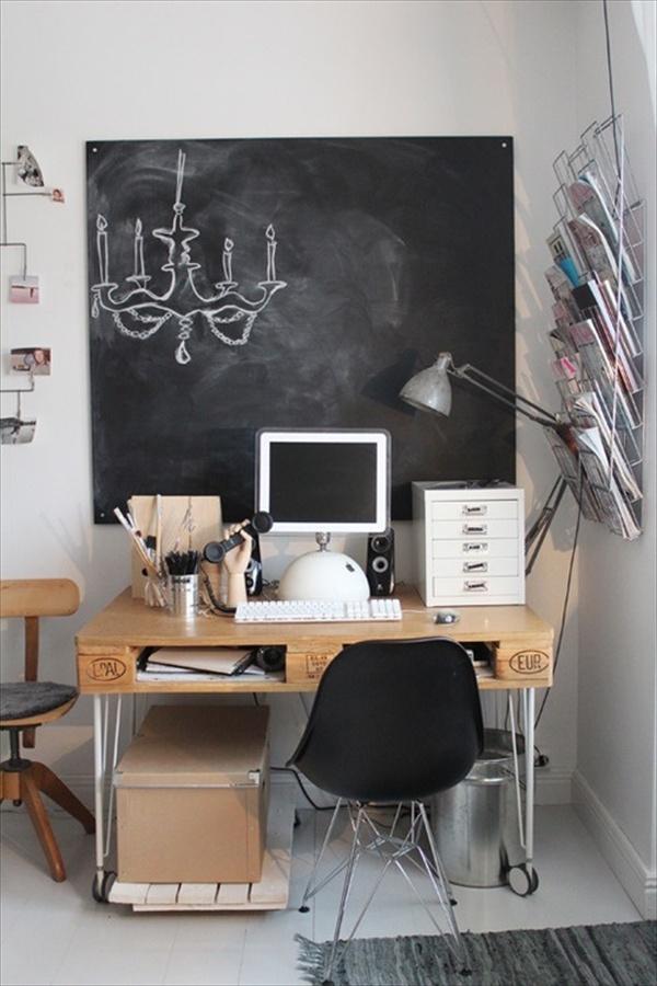 DIY Pallet Computer Table