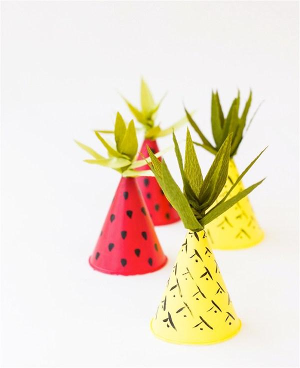 DIY Bday Fruit Hats