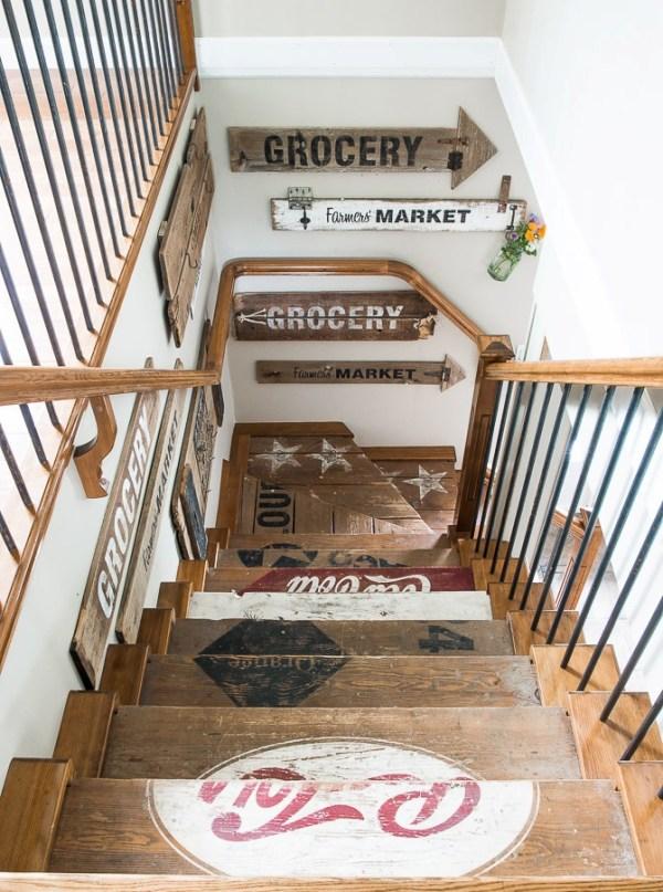 DIY Wooden Stairs Design