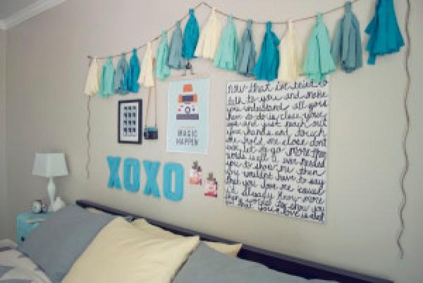 DIY Blue Girl's Room