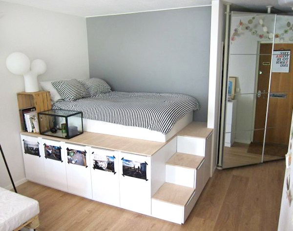 How to make a bed with storage