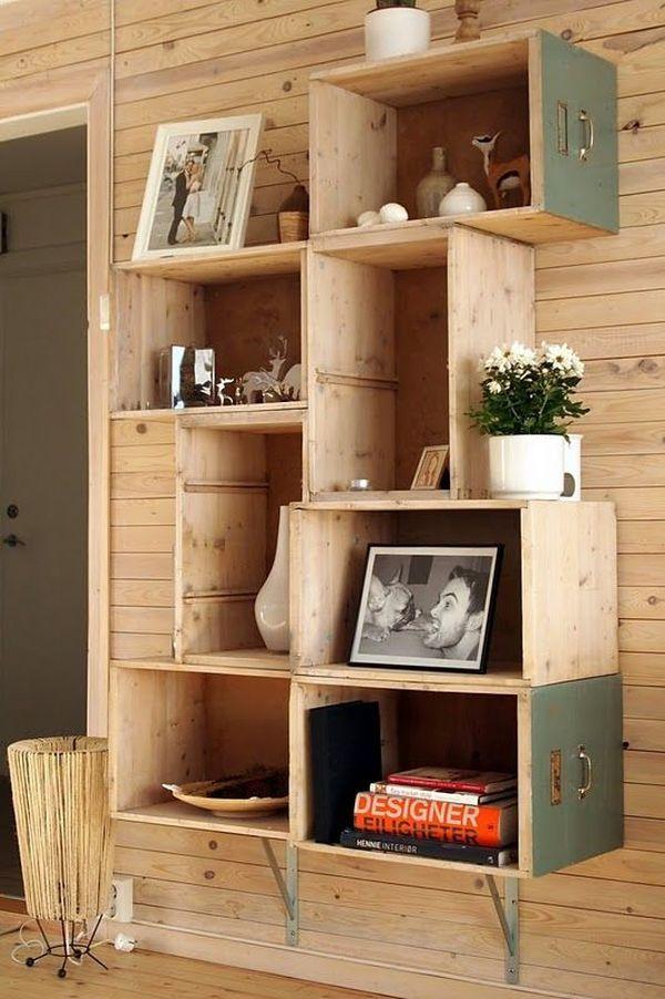 DIY vertical shelves designs