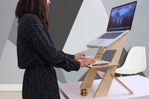 how to make laptop standing desk