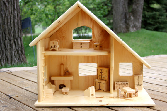 DIY wooden doll house