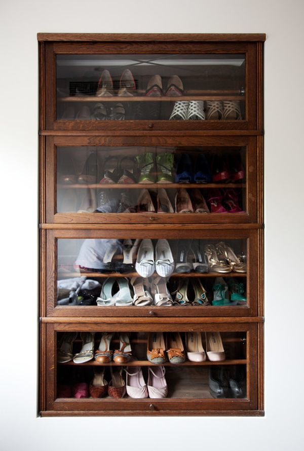 DIY wooden shoe rack