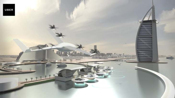 Air taxi service by Uber