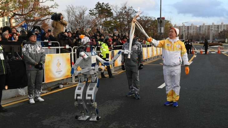 robot olympics torch