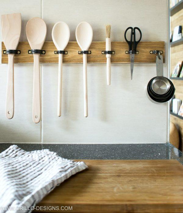 DIY kitchen utensil racks