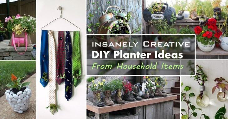 DIY Creative Household items Planter Ideas