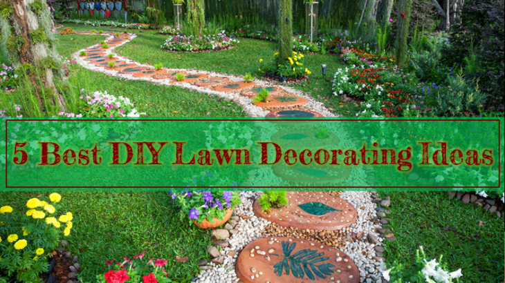 Lawn decorating DIY idesa