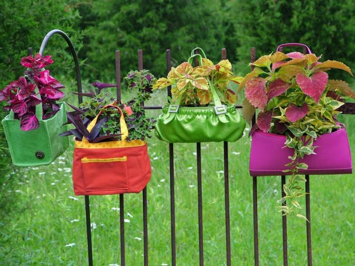 creative DIY Purse Planter