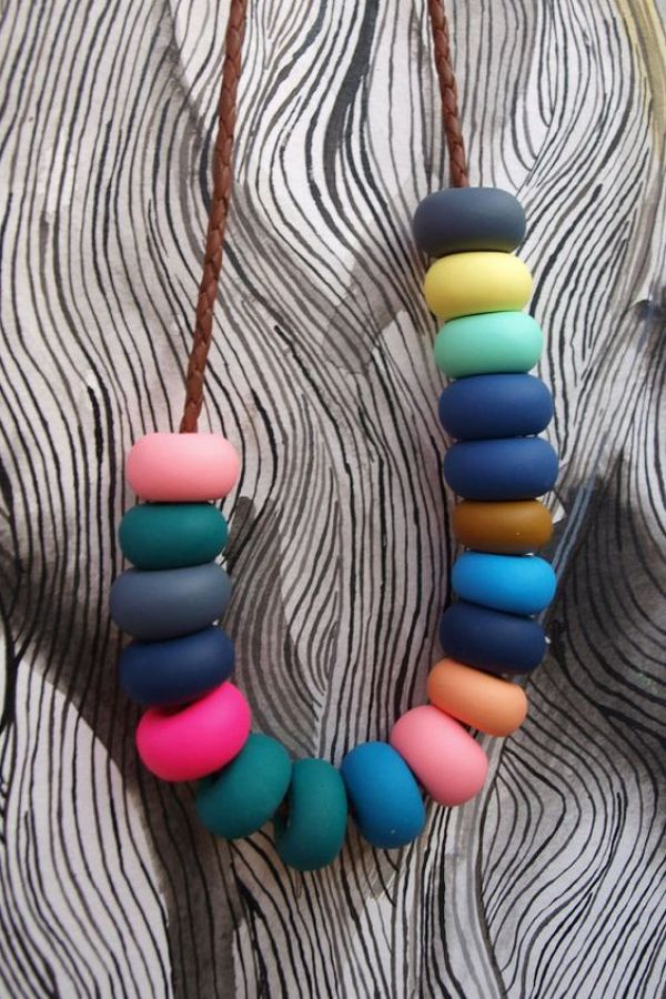 how to make a clay necklace
