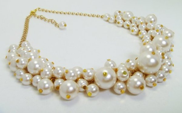 handmade pearl necklace ideas
