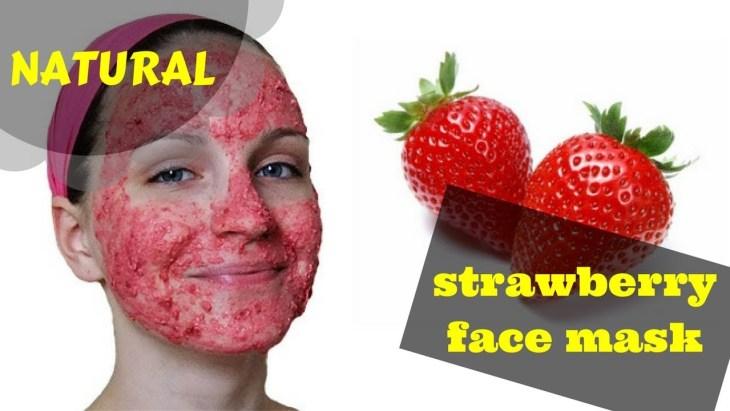 DIY Strawberry face mask