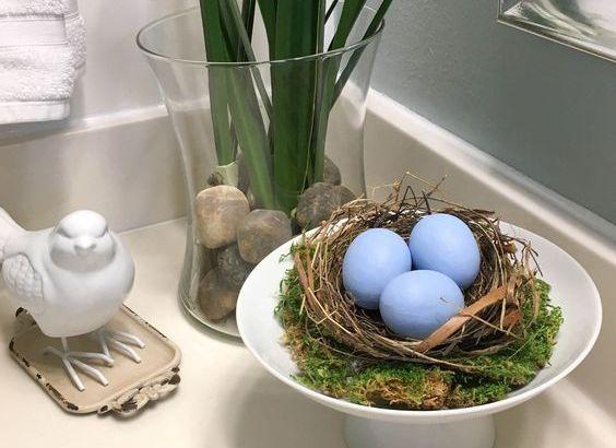 diy bird nest eggs decor ideas