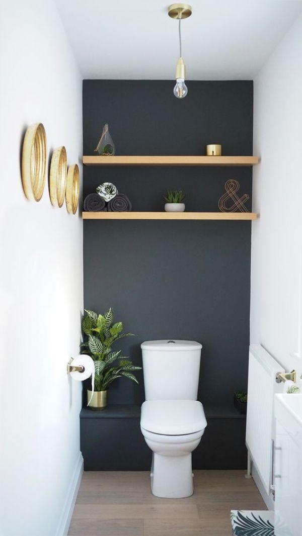 DIY BATHROOM STORAGE SHELVES