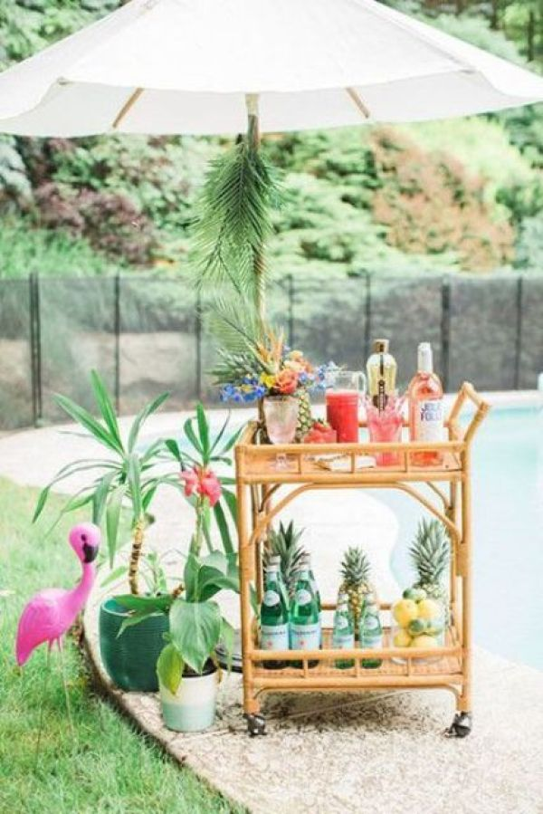 diy cart bar styling