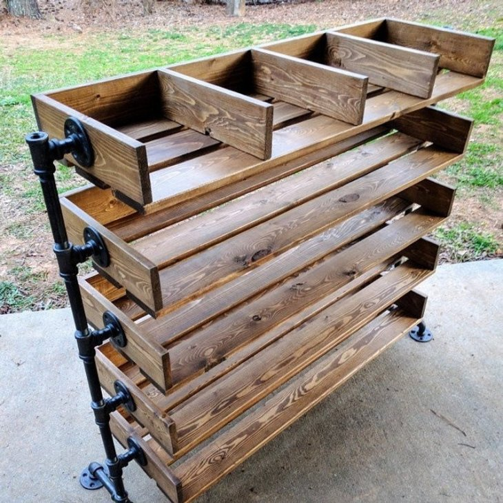 DIY Wood Shoe Organizer