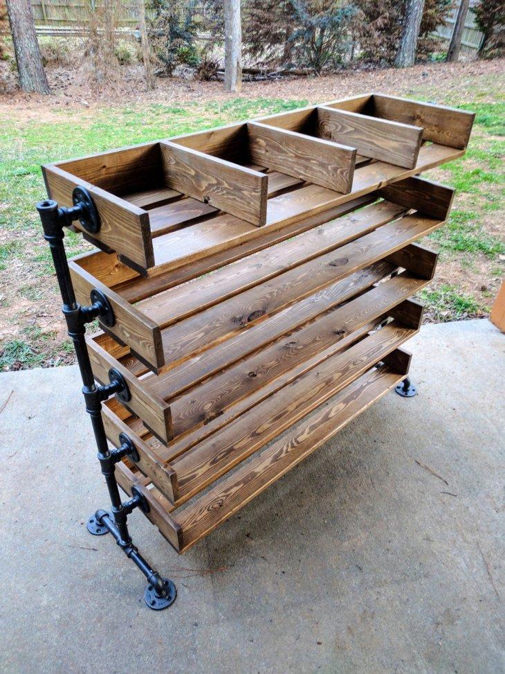 Make DIY Reclaimed Wood Shoe Organizer