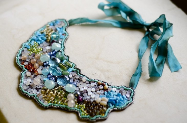 Multi-coloured-beaded-necklace