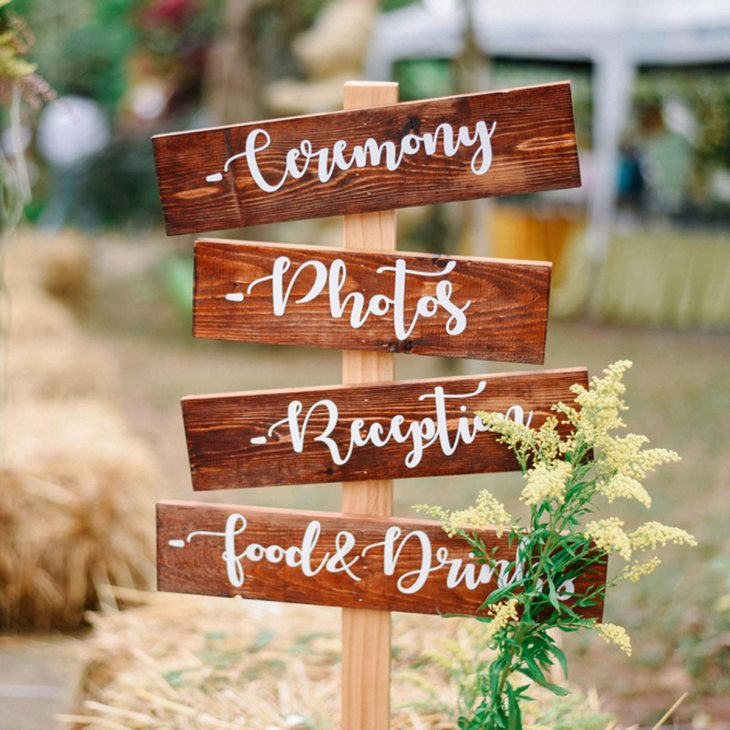 DIY wooden direction signs