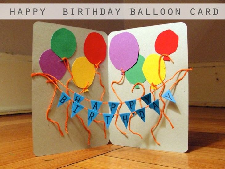 String-balloon-card