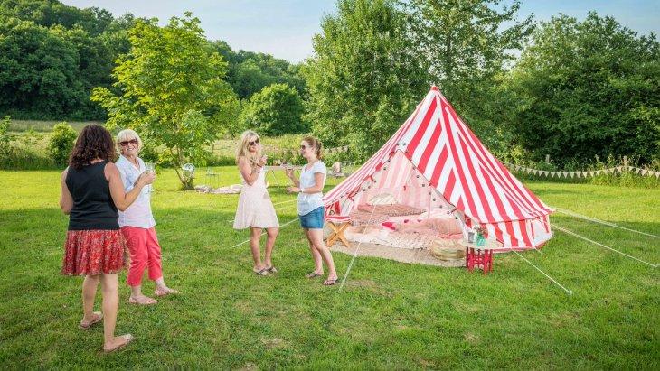 Strawberries & Cream Bell Tent