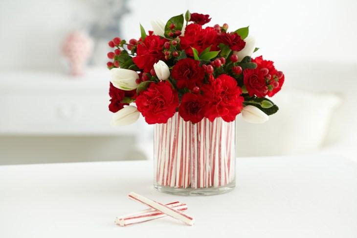 colorful handmade flower vase