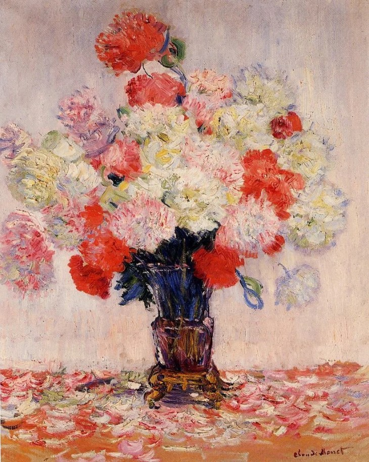 Painting of Peonies By Claude Monet