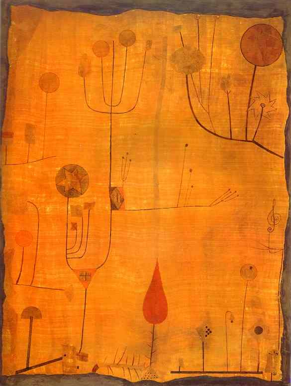 Paul-Klee-Fruits-on-Red