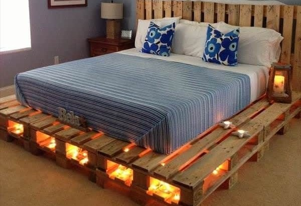 Craft double pallet bed
