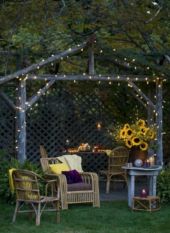 Creative Garden Idea - Soft Lighting