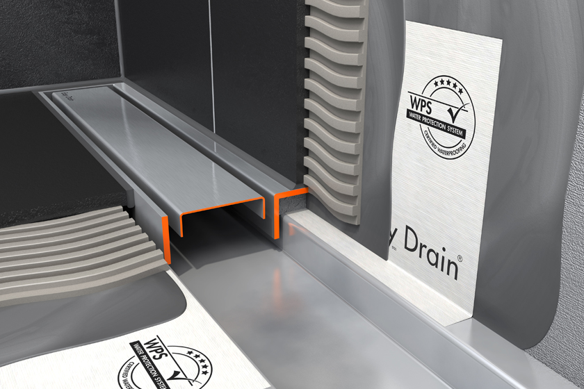 Easy Drain Compact TAF Wall  Linear Shower Drain