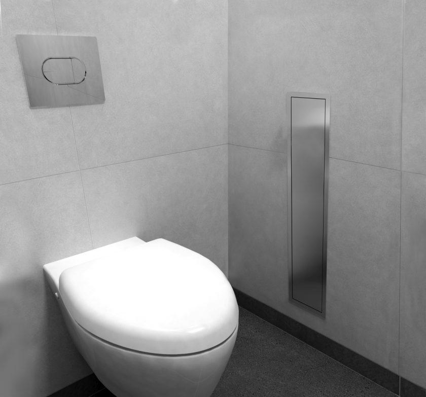 Easy Drain  Encastrement WC Niche murale et brosse toilette