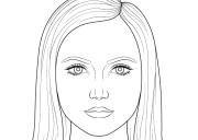 draw female face step
