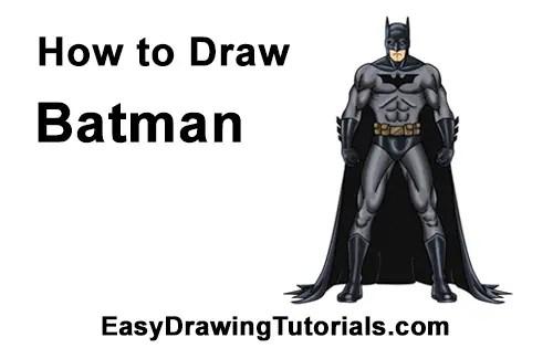 How to Draw Batman (Full Body)