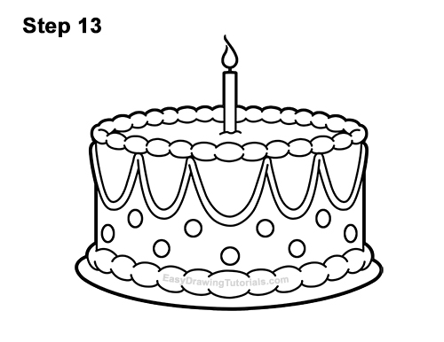 How To Draw A Birthday Cake Video Step By Step Pictures