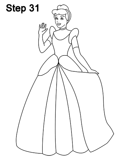 How to Draw Cinderella (Full Body)