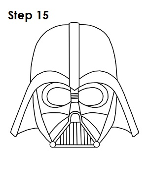 How To Draw Darth Vader Helmet Sketch Coloring Page