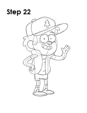 How to Draw Dipper Pines