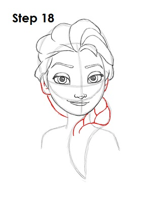 how to draw Elsa from frozen