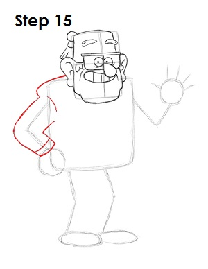 How to Draw Grunkle Stan