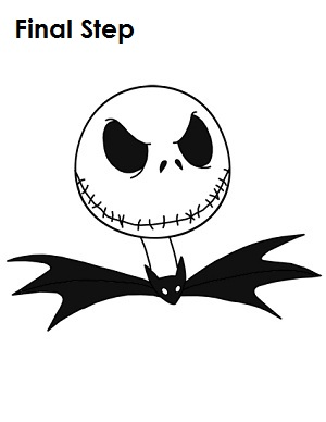 How to Draw Jack Skellington Final Step