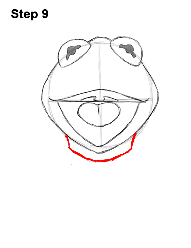 How to Draw Kermit the Frog with Step-by-Step Pictures