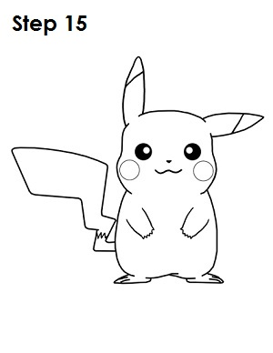 how to draw pikachu step by step easy