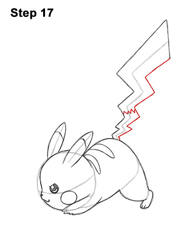 How to Draw Pikachu (Attack Pose)