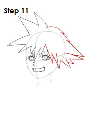 How to Draw Sora (Kingdom Hearts)